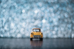 Yellow toy car Royalty Free Stock Photography