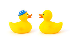Yellow toy ducks Royalty Free Stock Photography