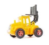 Yellow toy forklift Royalty Free Stock Photo