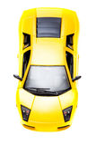Yellow toy sport car Stock Photography