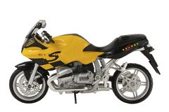 Yellow toy sportbike Royalty Free Stock Photography