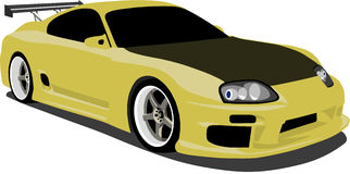 Yellow Toyota Supra. A Yellow Toyota Supra eps saved in layers for easy editing. See my portfolio for more automotive images vector illustration