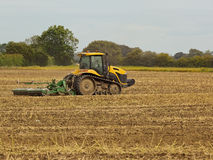 Yellow tractor Royalty Free Stock Images