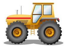 Yellow tractor. Vector illustration of a yellow tractor royalty free illustration