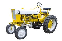 Yellow tractor Stock Photography