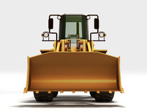 Yellow Tractor. Made in 3D Royalty Free Stock Photography
