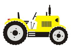 Yellow tractor Royalty Free Stock Photography