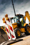 Yellow tractor Royalty Free Stock Photo