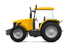 Yellow Tractor Isolated Royalty Free Stock Photos
