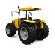 Yellow Tractor Isolated Stock Photos