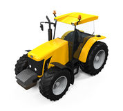Yellow Tractor Isolated Stock Photo
