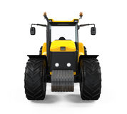 Yellow Tractor Isolated Royalty Free Stock Image
