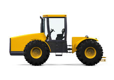 Yellow Tractor Isolated Royalty Free Stock Photo