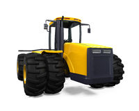 Yellow Tractor Isolated Royalty Free Stock Photography