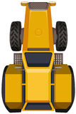 Yellow tractor in large scale Royalty Free Stock Images