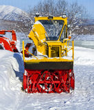 Yellow tractor for snow removal Royalty Free Stock Photos