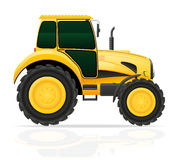 Yellow tractor vector illustration Royalty Free Stock Images