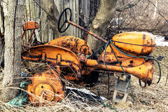 Yellow Tractor Stock Images