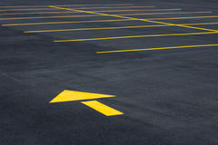 Yellow Traffic Arrow royalty free stock photo
