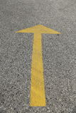 Yellow traffic arrow abstract background Stock Image