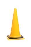 Yellow traffic cone isolated Stock Photo