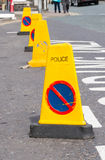 Yellow traffic cone. Stock Photography