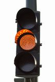 Yellow traffic light Stock Photo