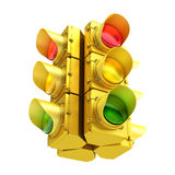 Yellow traffic light Stock Photography