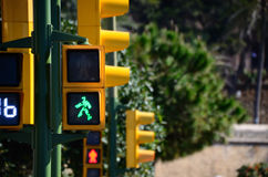 Yellow traffic light is green Royalty Free Stock Image