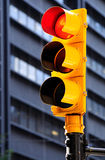 Yellow traffic light. Stock Images