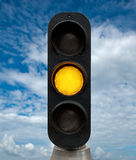 Yellow traffic lights Royalty Free Stock Photography