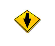 Yellow traffic sign Royalty Free Stock Images
