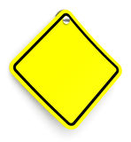 The yellow traffic sign Stock Images