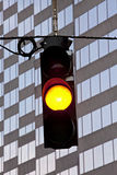 Yellow Traffic Signal Stock Photo