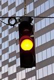 Yellow Traffic Signal Stock Photo