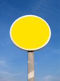 Yellow traffic signal. Traffic signal against sky Royalty Free Stock Images