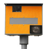 Yellow traffic speed camera Stock Image
