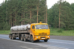 Yellow trailer truck Royalty Free Stock Images