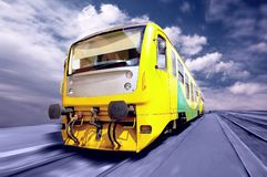 Yellow train Royalty Free Stock Photo