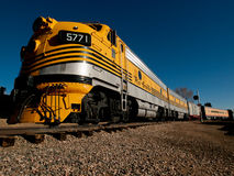 Yellow Train Royalty Free Stock Image