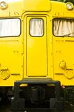 Yellow train diesel engine Royalty Free Stock Images