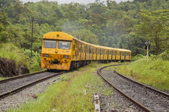 Yellow Train In srilanka Royalty Free Stock Photos
