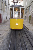 Yellow Tram Stock Photo