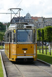 Yellow tram - Budapest stock photo
