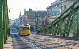 The yellow tram Stock Image