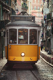 Yellow tram in Lisbon, Portugal Royalty Free Stock Photography