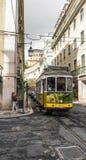 Yellow tram of Lisbon Stock Photo