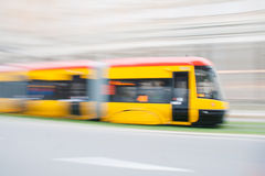 Yellow tram Royalty Free Stock Image