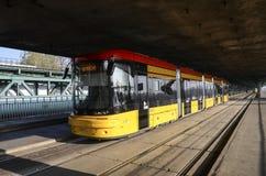Yellow tram Stock Photos