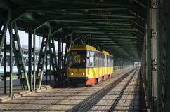 Yellow tram Royalty Free Stock Photos